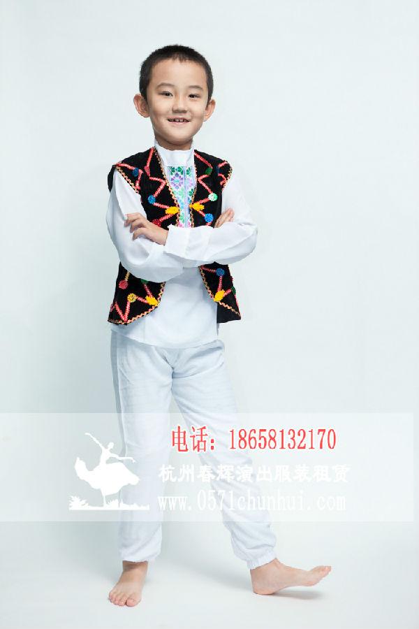 儿童新疆维吾尔族服装 男生